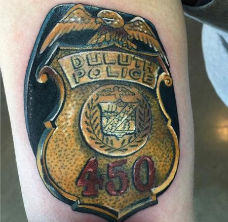 Tattoos - Duluth Police Tattoo  - 123657